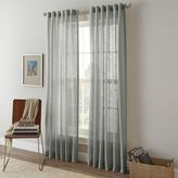 Shimmer Sheer 95-Inch Rod Pocket Window Curtain Panel in Grey