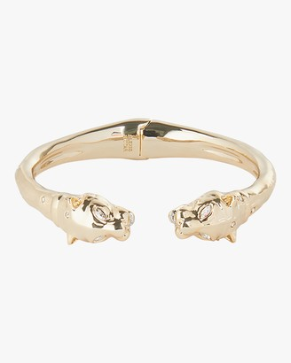Alexis Bittar Face-to-Face Panther Hinge Bracelet