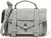 Proenza Schouler PS1 medium leather-trimmed felt shoulder bag