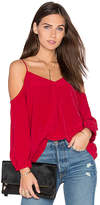 Joie Eclipse Cold Shoulder Blouse in Red. - size S (also in )