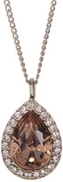 Givenchy Crystal Accented Pear Pendant Necklace