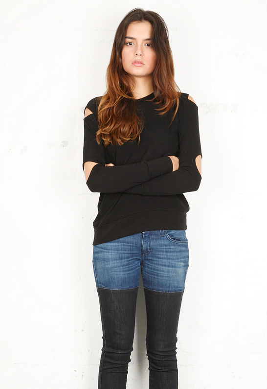 LnA Cut Out Sweater
