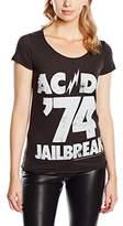 Amplified Women's ACDC Jailbreak 74 Short Sleeve T-Shirt,(Manufacturer Size:Large)