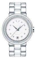 Movado Cerena Diamond, Stainless Steel & Ceramic Bracelet Watch