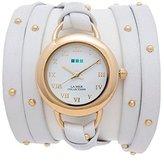 La Mer Women's LMSATURN1571 White-Gold Stud Saturn Wrap Watch