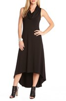 Karen Kane Women's 'Katie' Cowl Neck High/low Maxi Dress