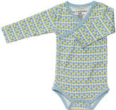 Petunia Pickle Bottom Gray Angels & Arrows Organic Cotton Long-Sleeve Bodysuit