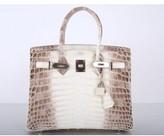Hermes pristine (PR Himalayan White Crocodile 30cm Birkin Bag