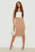Boohoo Brea Basic Jersey Midi Skirt