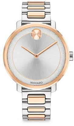 Movado BOLD Frosted-Dial Two-Tone Stainless Steel Bracelet Watch