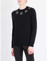 Givenchy Star Appliqué Wool Jumper