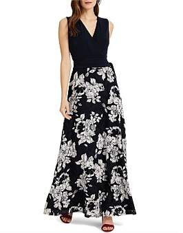 Phase Eight Medeline Lace Skirt Maxi Dress