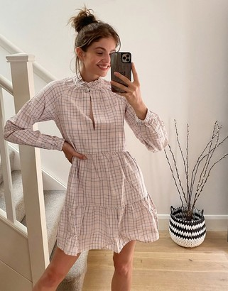 Stradivarius dress in check