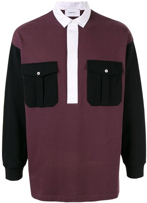 Ports V V print polo shirt