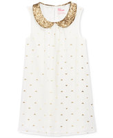 Epic Threads Girls' Sequin-Collar A-Line Dress, Only at Macy's