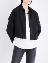 James Perse Batwing stretch-cotton bomber jacket