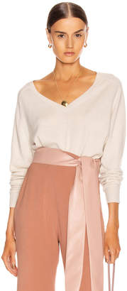Nili Lotan Ashbury Cashmere Sweater in Ivory   FWRD