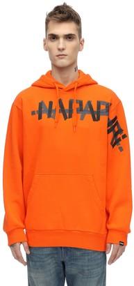 Napapijri Loose Fit Cotton Blend Sweatshirt Hoodie