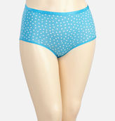 Avenue River Blue Dot Cotton Full Brief Panty