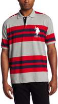 U.S. Polo Assn. Men's Multi-Colored Striped, Heather Grey