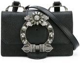 Miu Miu buckle detail shoulder bag - women - Sheep Skin/Shearling/metal/glass - One Size