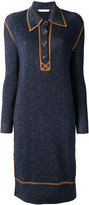 J.W.Anderson contrast knitted dress - women - Merino - 8