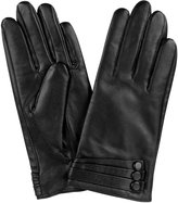 Cackss Women's Button Touch Screen Gloves PU Faux Leather Thick Warmer Winter Gloves