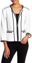 Kasper Stretch Pique Zip Jacket