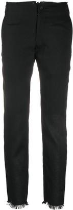 Yohji Yamamoto Lace-Up Slim Fit Trousers
