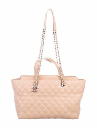 Chanel 2017 Large Shopping Bag Champagne