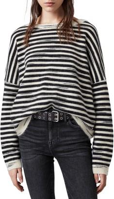 AllSaints Bretta Stripe Oversize Sweater