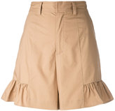 Muveil flared hem shorts - women - Cotton - 38