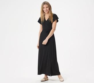 BROOKE SHIELDS Timeless Regular Short-Sleeve Maxi Dress