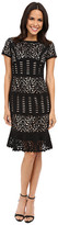 NUE by Shani Laser Cutting Dress w/ Flounce Detail