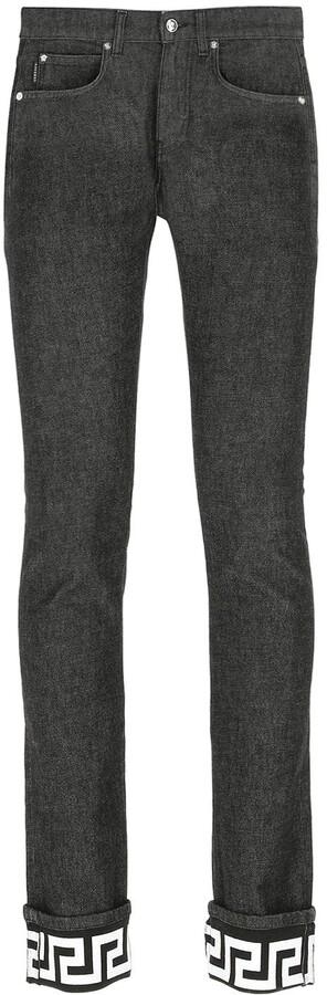 Versace Greek Key Hem Jeans