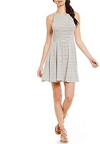 Billabong She's Alright Striped High Neck Skater Dress