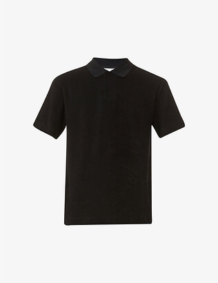 Sunspel Slim-fit terry-cotton polo shirt