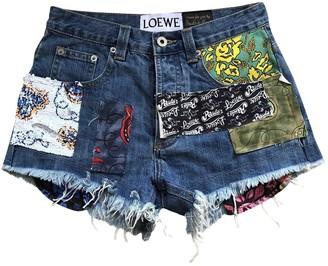 Loewe Blue Denim - Jeans Shorts for Women