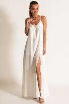 Donna Mizani Trapeze Gown in White
