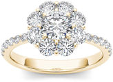 MODERN BRIDE 1 3/4 CT. T.W. Diamond 14K Yellow Gold Engagement Ring