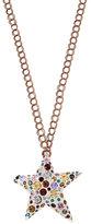 Betsey Johnson Confetti Multi Star Lucite Pendant Necklace