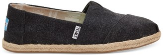Toms Black Washed Canvas Women's Espadrilles