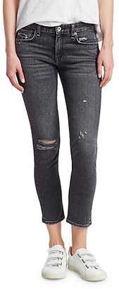 Rag & Bone Dre Low-Rise Distressed Slim Boyfriend Jeans