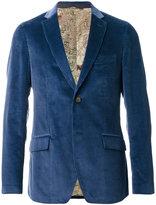 Etro flap pockets ribbed blazer