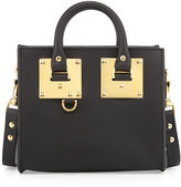 Sophie Hulme Small Leather Box Satchel Bag, Black