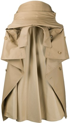 Junya Watanabe Trench Coat gathered skirt