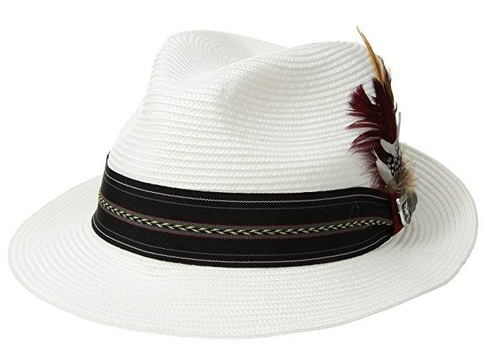 7bc60c8c1 Poly Braid Pinch Front Fedora with Fancy Band