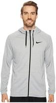 Nike Dry Training Full-Zip Hoodie (Black/White) Men's Fleece