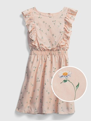 Gap Kids Floral Ruffle Dress