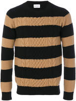 Dondup cable knit striped jumper